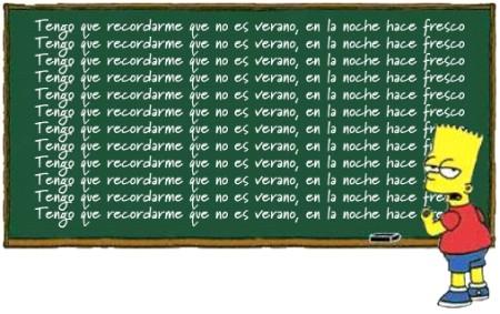 Bart Chalkboard Español