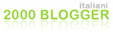 Logo 2000 Blogger Italiani