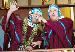 Chavez y Evo Morales